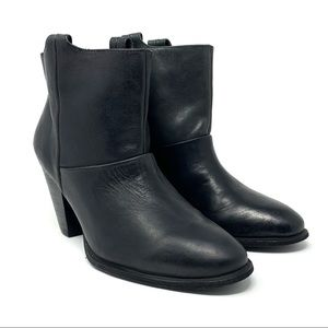 NEW! Aldo Pull On Leather Ankle Boots Booties
